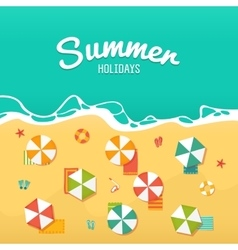 Summer Holidays with beach umbrellas vector image vector image