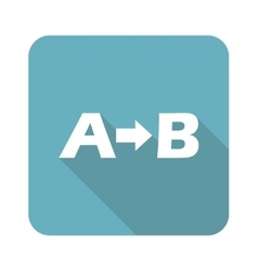 A-B logic icon square vector