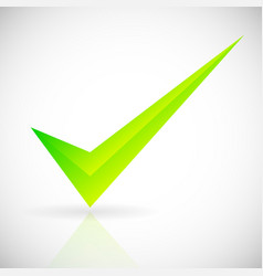 a bright checkmark with bevel effect vector image