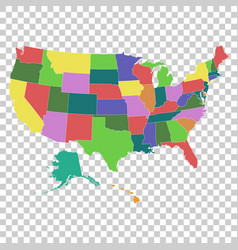 a high detail usa map with federal states vector image