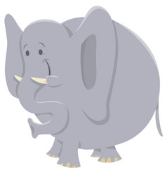 African elephant cartoon animal character vector
