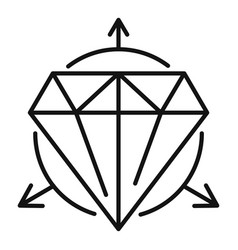Alchemy gemstone icon outline style vector