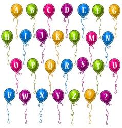 alphabet balloons vector image