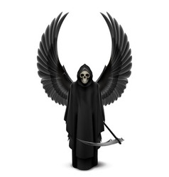 Angel of death with two wings vector image