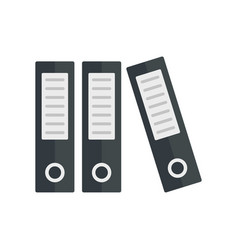 Archive folder icon flat style vector