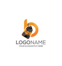 B-letter deal logoidentity design vector