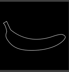 Banana white color path icon vector