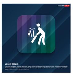 batsman icon vector image