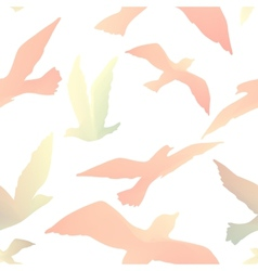 bird fly vector image
