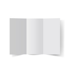 Blank a4 brochure vector