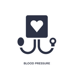 blood pressure icon on white background simple vector image