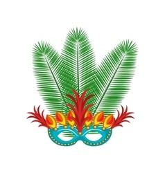 brazilian carnival mask rio vector image