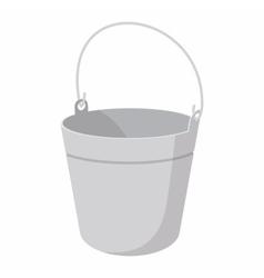 Bucket cartoon icon vector