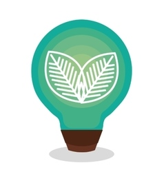 bulb ecology with leafs vector image