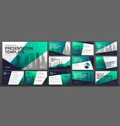 Business presentation templates set vector