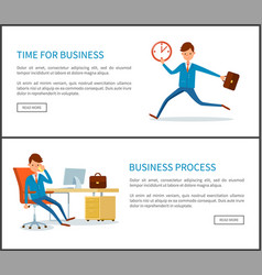 business process businessman running out of time vector image