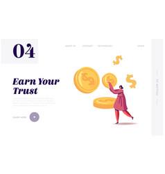Businesswoman make saving financial profit vector