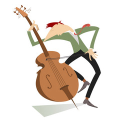 Cellist isolated vector