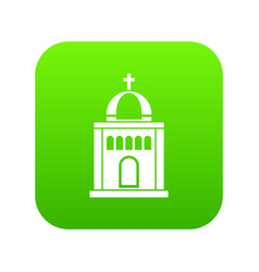 church icon digital green vector image