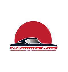 classic car logo vector image