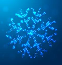 creative christmas snowflake design vector image