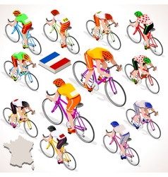 Cyclist 2016 Tour France Isometric People vector image
