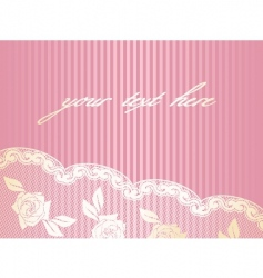 decorative lace background vector image