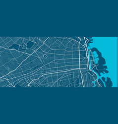 Detailed map buenos aires city linear print vector
