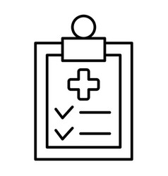 diagnostic report thin line icon medical vector image