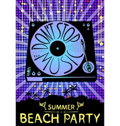 Dont stop the music Design for beach party placard vector