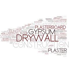 Drywall word cloud concept vector