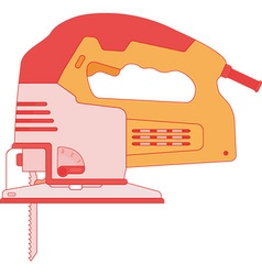 Electric Jigsaw Tool vector image