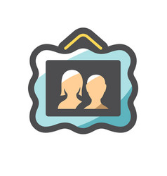 family picture couple photo icon cartoon vector image