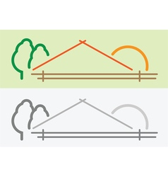 farm symbol vector image
