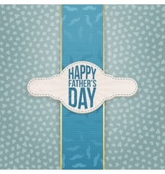 Fathers Day realistic Emblem with Text and Ribbon vector