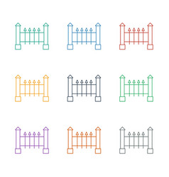 Fence icon white background vector