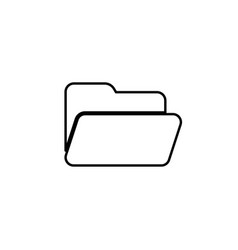 file or folder line icon vector image