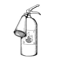 Fire extinguisher engraving vector