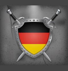 Flag of germany the shield with national flag vector