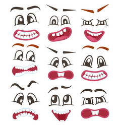 Funny emoticons or smileys icons set for web vector
