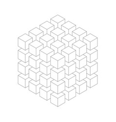 Geometric cube of smaller isometric cubes vector