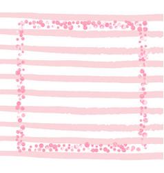 Gold glitter confetti with dots vector