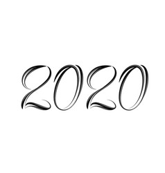 hand drawn lettering 2020 for you design vector image