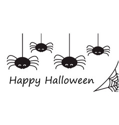 happy halloween card or border with stylized vector image