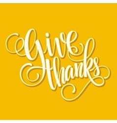 Happy Thanksgiving lettering background vector image