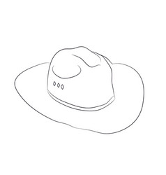 hat drawn with lines vector image