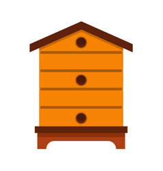Hive icon flat style vector