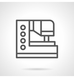 Household sewing equipment black line icon vector image