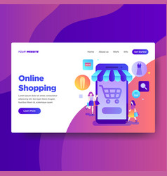 landing page template online shopping vector image