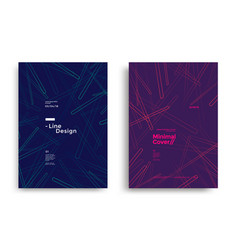 minimal dynamic covers design with color line vector image